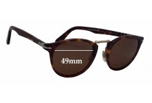 Persol 3108-S Typewriter Edition Replacement Sunglass Lenses - 49mm wide