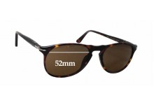Persol 9649/S Replacement Sunglass Lenses - 52mm wide x 46mm tall