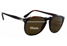Persol 9649-S Replacement Sunglass Lenses - 55mm Wide