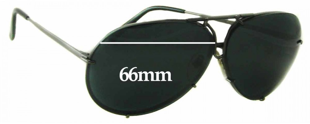 Porsche Design P8478 Replacement Sunglass Lenses 66mm Wide