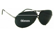 Porsche Design P8478 Replacement Sunglass Lenses - 66mm Wide