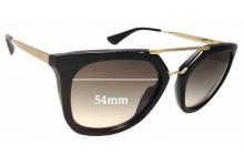 Prada SPR 13Q Replacement Sunglass Lenses - 54mm wide