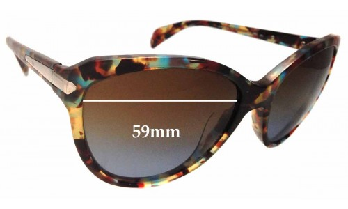 Prada SPR15P Replacement Sunglass Lenses - 59mm Wide