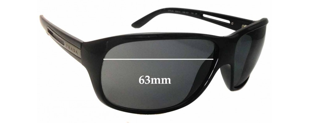 Prada SPR22I Replacement Sunglass Lenses 63mm wide