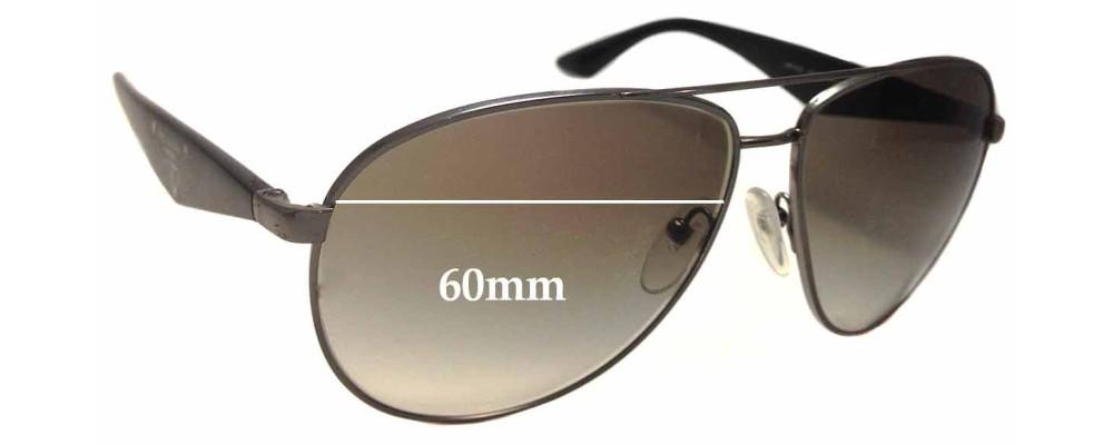 Prada SPR 53Q Replacement Sunglass Lenses - 60mm Wide