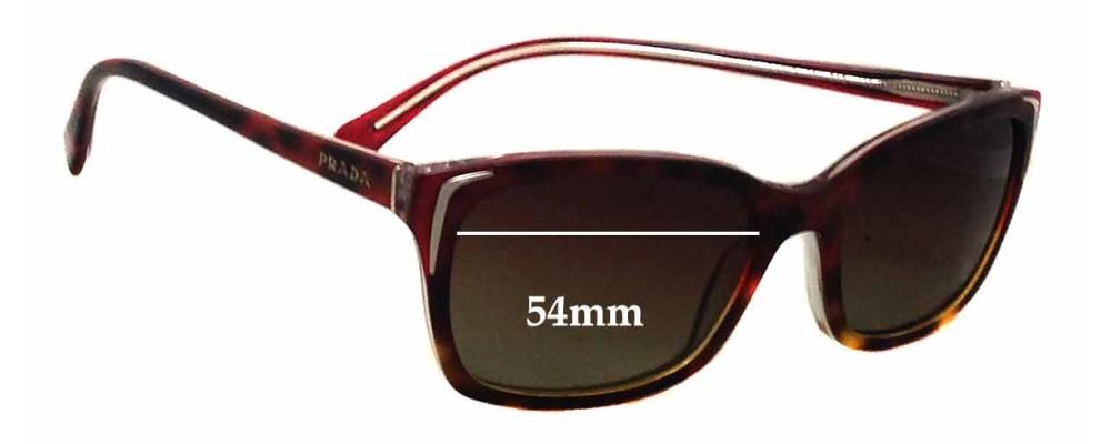 Prada SPR02O Replacement Sunglass Lenses - 54mm wide