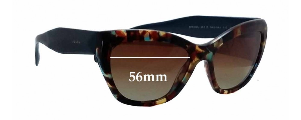 Prada SPR02Q Replacement Sunglass Lenses - 56mm wide