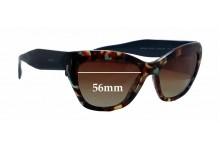 Prada SPR02Q Replacement Sunglass Lenses - 56mm wide