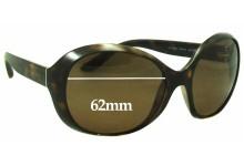 Prada SPR04O Replacement Sunglass Lenses - 62mm wide