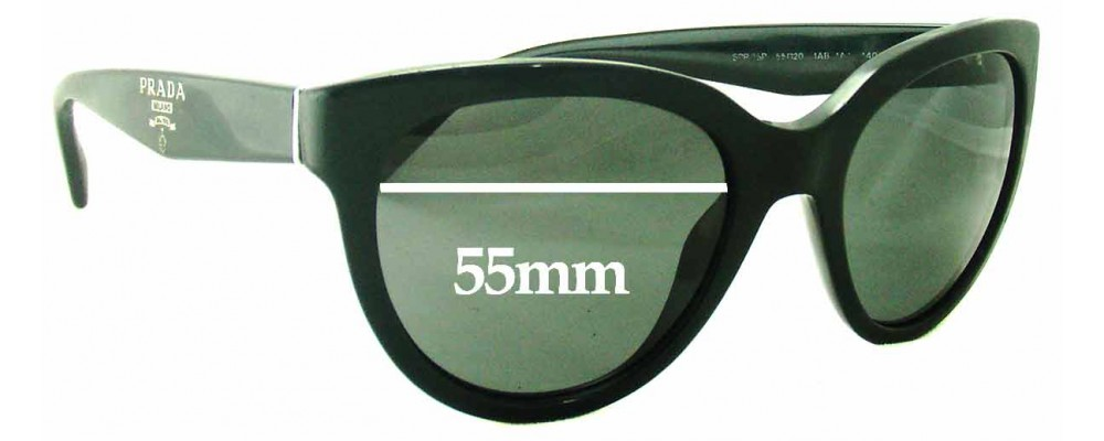 Prada SPR05P Replacement Sunglass Lenses - 55mm wide