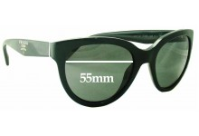 Prada SPR05P Replacement Sunglass Lenses - 55mm wide