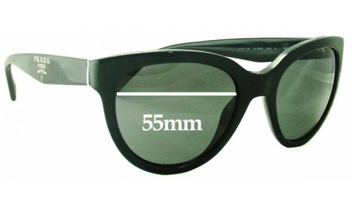 Prada SPR05P Sunglass Replacement Lenses - 55mm wide