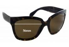 Prada SPR 07P Replacement Sunglass Lenses - 56x44mm Wide
