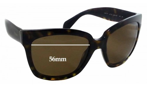 Sunglass Fix Replacement Lenses for Prada SPR 07P - 56x44mm Wide