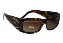 Prada SPR10H Replacement Sunglass Lenses - 57mm wide lens
