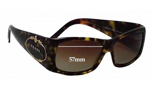 Prada SPR10H Replacement Sunglass Lenses - 57mm wide lens
