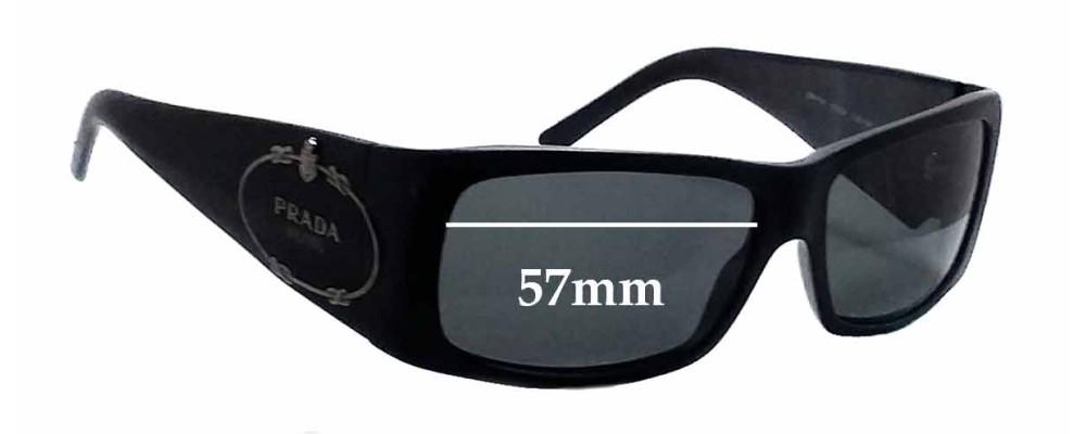 Prada SPR11H Replacement Sunglass Lenses - 57mm wide