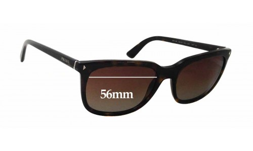 Prada SPR12R Replacement Sunglass Lenses - 56mm wide x 44mm tall