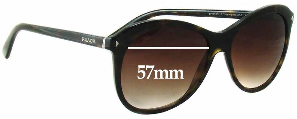 Prada SPR13R Replacement Sunglass Lenses - 57mm wide