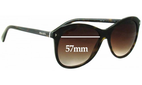 Prada SPR13R Replacement Sunglass Lenses - 57mm wide