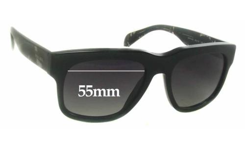 Prada SPR14Q Replacement Sunglass Lenses - 55mm wide