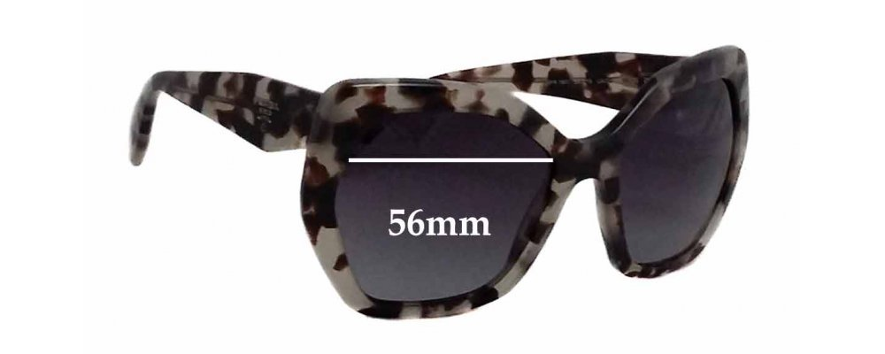 Prada SPR16R Replacement Sunglass Lenses - 56mm wide