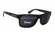 Prada SPR18P Replacement Sunglass Lenses - 59mm wide x 42mm tall