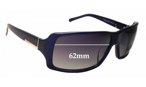 Prada SPR24G Replacement Sunglass Lenses - 62mm Wide