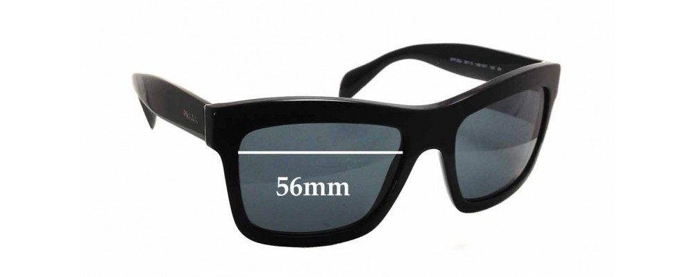 Prada SPR 25Q Replacement Sunglass Lenses - 56mm wide x 41mm tall