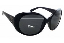 Prada SPR 26O Replacement Sunglass Lenses - 57mm Wide