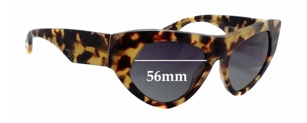 Prada SPR27Q Replacement Sunglass Lenses - 56mm wide