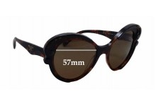 Prada SPR 28N Replacement Sunglass Lenses - 57mm wide x 53mm tall
