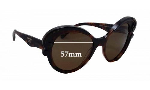 Prada SPR 28N Replacement Sunglass Lenses - 57mm wide x 53mm tall