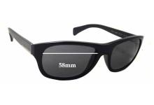 Prada SPR29N Replacement Sunglass Lenses - 58mm wide - 44mm tall