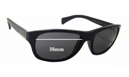 Prada SPR29N Replacement Sunglass Lenses - 58mm wide - 44mm tall