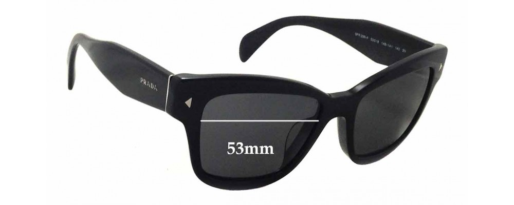 Prada SPR29R-F Replacement Sunglass Lenses - 53mm wide x 40mm tall