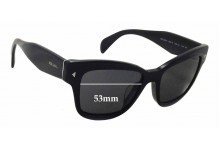 Prada SPR29R-F Replacement Sunglass Lenses - 53mm wide x 40mm tall