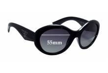 Prada SPR30P Replacement Sunglass Lenses - 55mm wide