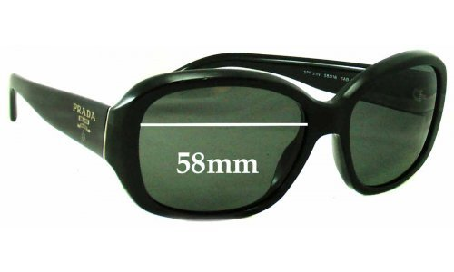 Prada SPR31N Replacement Sunglass Lenses - 58mm wide