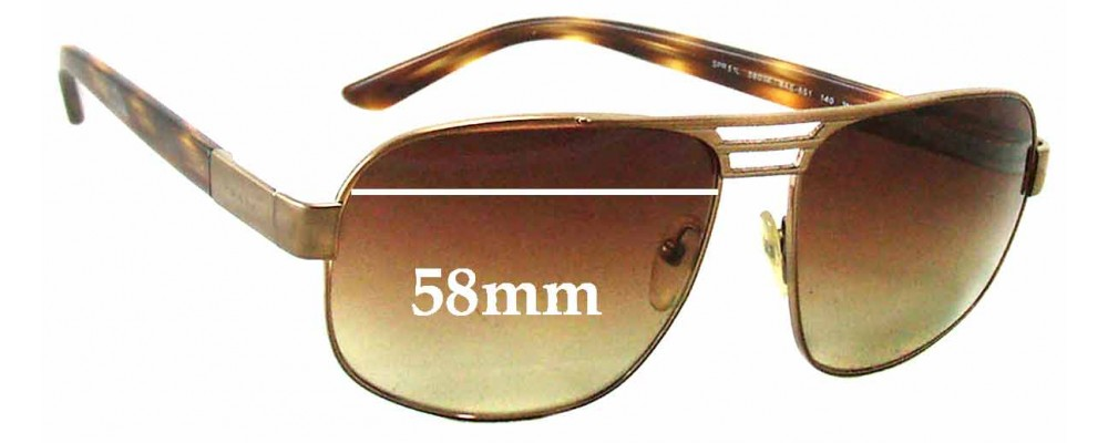 Prada SPR51L Replacement Sunglass Lenses - 58mm wide