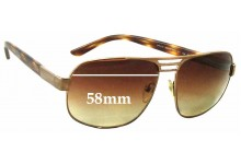 Prada SPR51L Replacement Sunglass Lenses - 58mm wide
