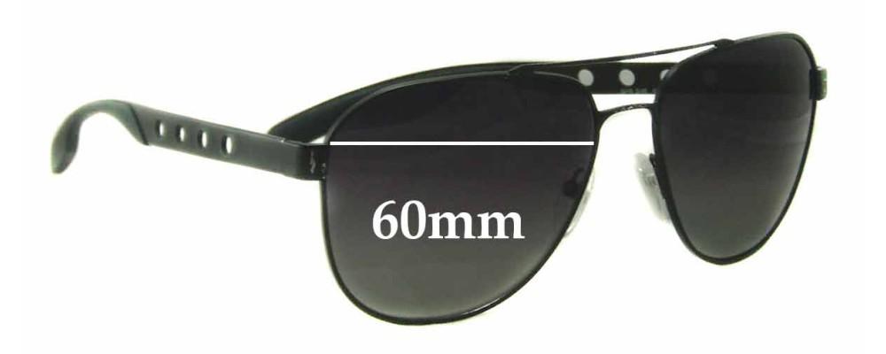 618e21c7a509b Prada SPR51R Replacement Lenses 60mm by The Sunglass Fix®