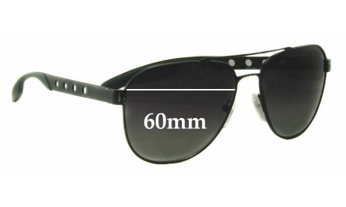 Prada SPR51R Replacement Sunglass Lenses - 60mm Wide