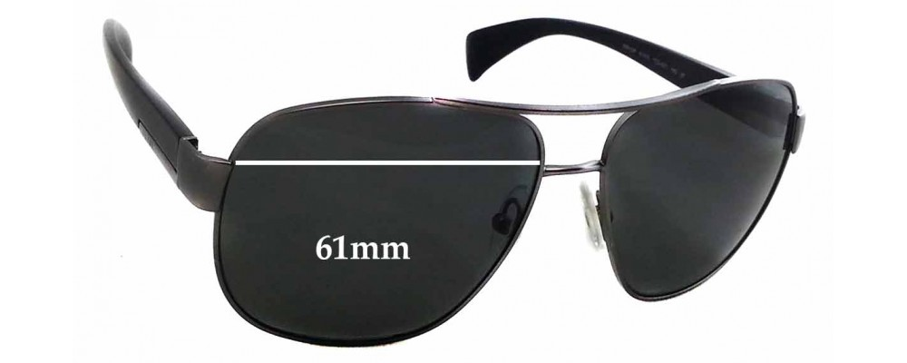 Prada SPR52P Replacement Sunglass Lenses - 61mm Wide
