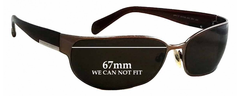 60fa1b29d1 Prada SPR53F Replacement Lenses CAN NOT FIT0 by The Sunglass Fix®