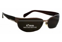 Prada SPR53F Replacement Sunglass Lenses 67mm wide - CAN NOT FIT