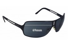 Prada SPR54H Replacement Sunglass Lenses - 69mm wide