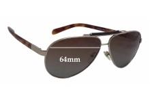 Prada SPR54N Replacement Sunglass Lenses - 64mm wide