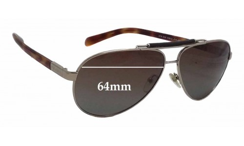 Sunglass Fix Replacement Lenses for Prada SPR54N - 64mm wide