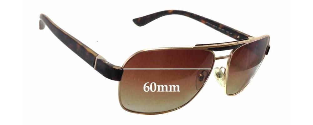 Prada SPR55O Replacement Sunglass Lenses - 60mm wide